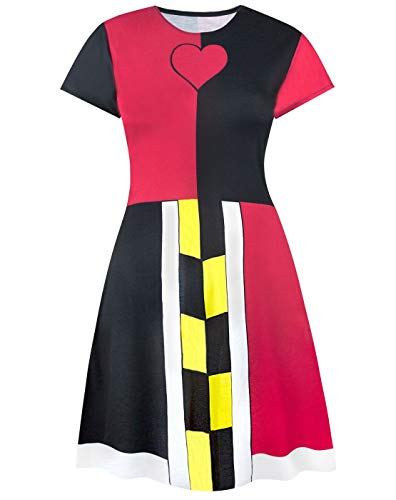 Disney Alice in Wonderland Queen of Hearts Costume Dress -