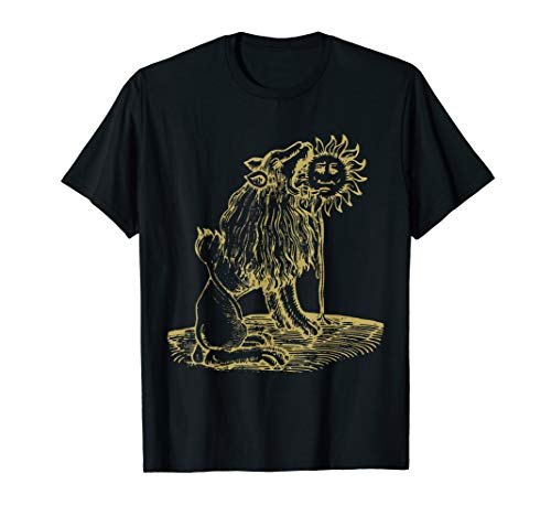 Medieval Lion Symbol (Lion eating the Sun Alchemical Medieval Occult Symbol )