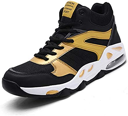 FJJLOVE Zapatos de Baloncesto al Aire Libre, de Alta Top ...