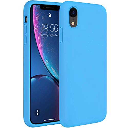 Miracase Liquid Silicon Case Compatible with iPhone 6.1, Gel Rubber Full Body Protection Shockproof Cover Case Drop Protection for Apple iPhone 6.1 (Blue)