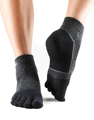 ToeSox Sport Perfdry Medium Weight Ankle Socks, X-Large, Black