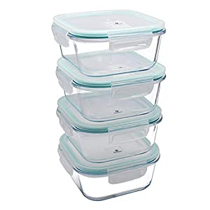 YEBODA Glass Food Storage Containers with Airtight Snap Locking Lids BPA Free Meal Prep Container Set For Home Kitchen Restaurant – Freezer, Microwave, Oven, Dishwasher Safe [28oz, 4 Pack] 41LIMV 2B6NlL  Get Healthy Today! 41LIMV 2B6NlL