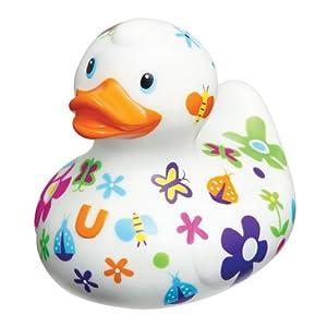 Luxury pretty duck flower rubber ducks and funky rubber - Funky bathroom accessories uk ...