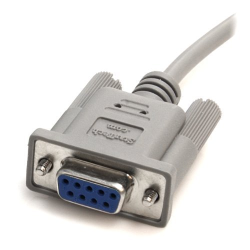 StarTech.com 10-Feet DB9 RS232 Serial Null Modem Cable F/F (SCNM9FF) Style: Female to Female PC, Personal Computer