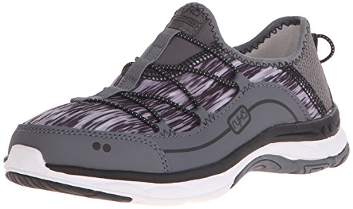 Ryka Womens Feather Pace Walking Shoe Iron Grey/Frost Grey/Black
