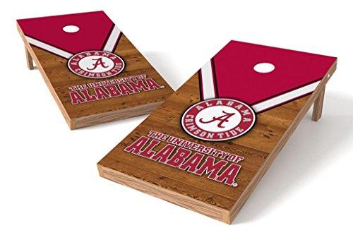 - PROLINE NCAA College 2' x 4' Alabama Crimson Tide Cornhole Board Set - Uniform