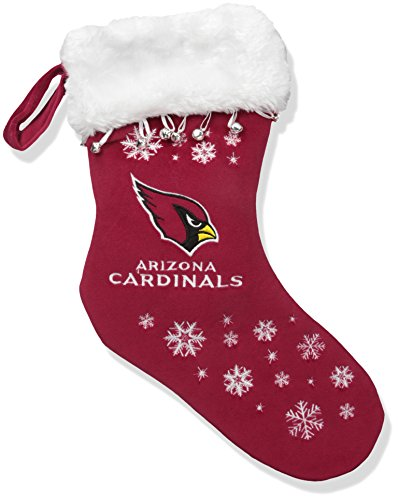 NFL Arizona Cardinals Full Embroidered Snowflake Stocking