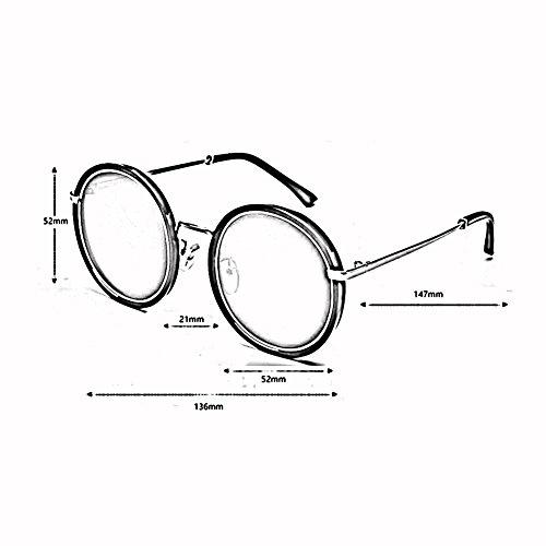 Sol Polarizado Anti 400 Sra 1 Moda Gafas 1 Circular xin Personalidad WX De Color UV Vendimia 8xvq40nwX