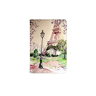 Paris Effel Tower Leather Business ID Passport Holder Protector Cover /_SUPERTRAMPshop