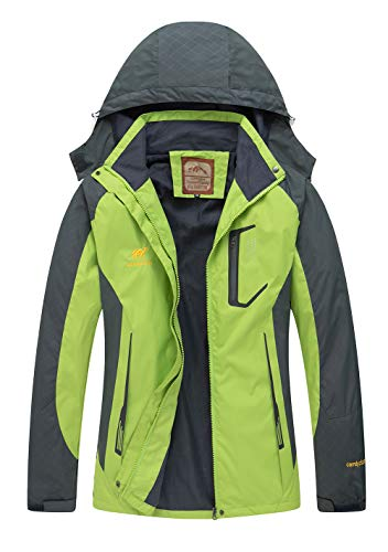 Diamond Candy Rain Jacket Women Hooded Lightweight Softshell Hiking Waterproof Coat ()