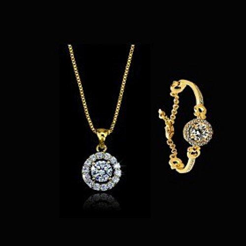 Big?Mind Silver Plated Jewelry Crstal /Fashion Women Rose Pendant Neckace&Amp;Bracelet157