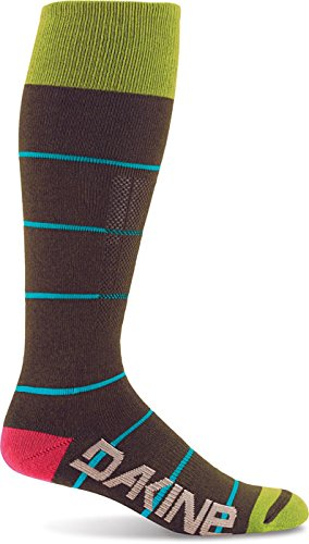 Dakine Highback Sock, Black Stripe, Small/Medium