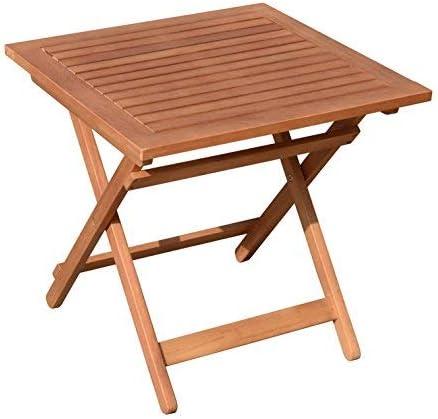 Eucalipto Jardín Mesa – 50 x 50 cm – Mesa plegable bistro mesa de cerveza mesa de jardín mesa de madera: Amazon.es: Jardín