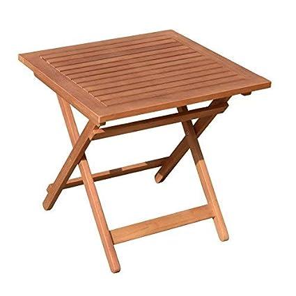 Gartentisch 50x50.Spetebo Eukalyptus Gartentisch 50x50 Cm Klapptisch Bistrotisch Biergarten Tisch Holztisch