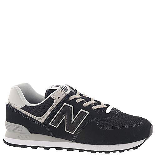 New Balance Men's Iconic 574 Sneaker, Black, 13 2E US