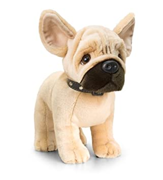 Keel Toys Sd0941 Peluche De Bulldog Francés 40 Cm Color Marrón