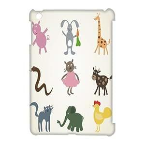Animal Cartoon Custom 3D Case for Ipad Mini, 3D Personalized Animal Cartoon Case
