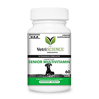 VetriScience Laboratories - Canine Plus Senior Multi Vitamin for Dogs, 60 Chewable Tablets