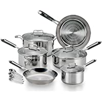 14-Piece T-fal E759SE Performa Pro Stainless Steel Cookware Set (Silver)