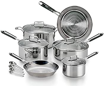 14-Piece T-fal E759SE Performa Pro Stainless Steel Cookware Set