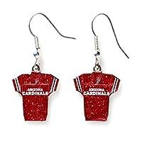 NFL womens NFL Sports Team Jersey Dangle Glitter Earring Set