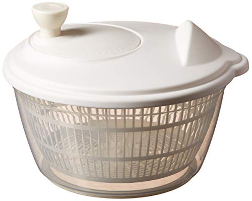 Clear Salad Spinner, Vegetable Washer and Dryer with Bowl by Basicwise