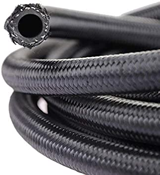 """FUEL HOSE 3//8/"""" ID X 5 FT BLACK RUBBER HOSE MADE IN THE USA"""