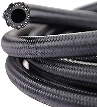 AN10 10AN Stainless Steel Braided Fuel Oil Gas Line Hose 20 Feet 6 Meters