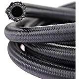 "theBlueStone -4AN -6AN -8AN -10AN Braided Fuel Line Hose 10FT -6AN Nylon Braided for 3/8"" Tube Size"