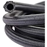 theBlueStone 10FT -4AN Nylon Braided Fuel Line Hose for 1/4' Tube Size