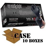 Microflex - Black MidKnight Nitrile Gloves-Case - Size: X-Large