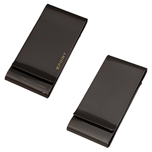 EQA08B01 Romance Contemporary Black Stainless Steel Triple Folding Money Clip Gift Giving For Bridegrooms By Epoint (Folding Money Clip compare prices)
