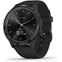 Garmin 010-02239-01 vivomove 3, Sport, 44mm, Black-Gunmetal, Silicone, Black/gunmetal