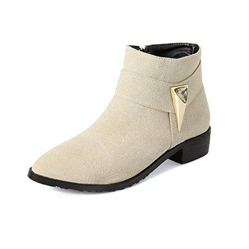Fashion HeelAnkle Boots - Botas mujer Beige