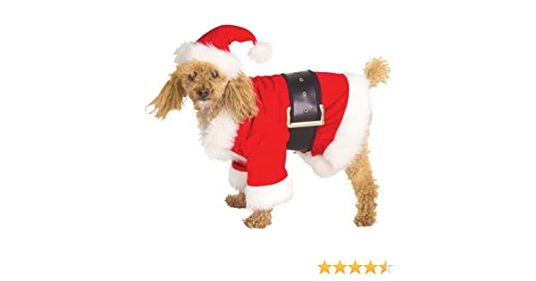 amazon com santa dog costume pet costumes pet supplies
