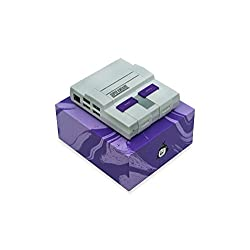 SNES Case for Raspberry Pi with high performance aluminium heatsink by Kintaro. Compatible with the Raspberry Pi 3, 2 and B+