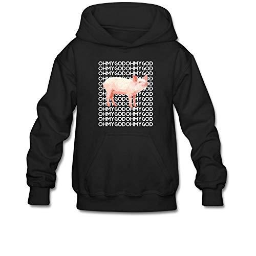 (Shane Dawson Oh My God Pig Pullover Hoodie Graphic Sweatshirt for 10-15 Yrs Boys and Girls M Black)