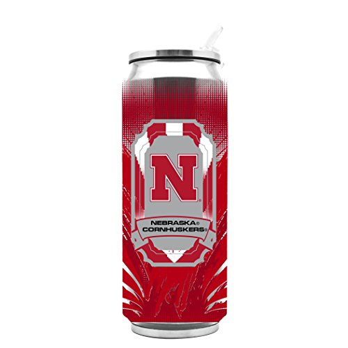 NCAA Nebraska Cornhuskers 16oz Double Wall Stainless Steel Thermocan