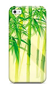 Slim New Design Hard Case For Iphone 5c Case Cover Bamboo