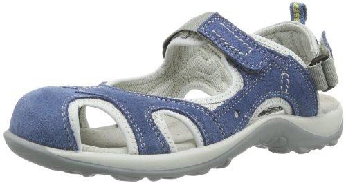 Manitu 820041 - Sandalias con correa de tobillo Mujer Azul (Blau (Blau 5))