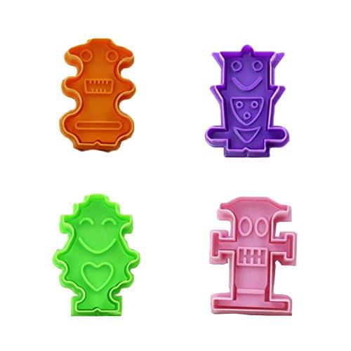East Majik Cookie Cutters 4pcs Random Color Alien Shape Series Biscuits Molds -