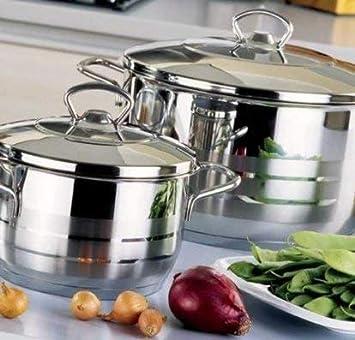 Korkmaz Mega Olla Utensilios Cocina Plata 36cm 20 Lt. Acero Inox. A1946: Amazon.es: Hogar