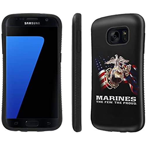 Galaxy [S7] Tough Designer Case [SlickCandy] [Black Bumper] Ultra Shock Absorbent - [Marines The Few The Proud] for Samsung Galaxy S7 / GS7 Sales