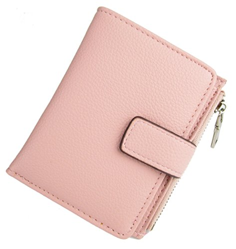 Women Short PU Leather Wallet(Pink) - 8