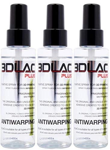 3DLAC Plus 3D Printer Adhesive 3 Pack