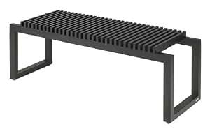 Skagerak S1920403 - Banco de madera de haya (120 cm), color negro