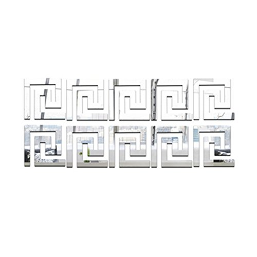 Mayfun Acrylic Hollow Wall Tile Mirror Stickers 4
