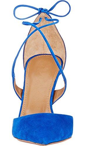 Pompes Edefs Dames Talons Aiguilles Chaussures De Talons Hauts Optiques Serpent Lacer Motif Serpent Chaussures En Dentelle De Chaussures Bleu