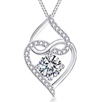 VAN RORSI&MO Heart Necklace-5A Cubic Zirconia Heart Pendant Necklace-14K Gold Plated Infinity Heart Necklaces for Women-Jewelry Gifts Necklaces for Women