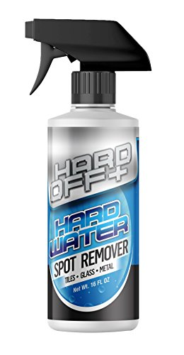 Hard Off+ Hard Water Stain Remover - Professional Grade Shower Cleaner - Bathroom Tile Cleaner Removes Tough Stains Easily - Hard Water Spot Remover Works on Tile, Metal, Glass - Shower Door Cleaner (Best Limescale Remover For Shower Doors)
